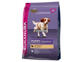 Eukanuba Puppy and Junior Lamb and Rice Hmotnost  12kg