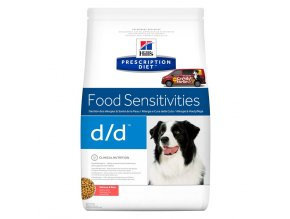Hills canine diet dd salmon and rice