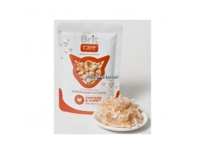 Kapsička Brit Care Cat Pouch Chicken and Cheese 80g