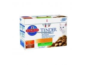 Kapsičky Hill's Feline Kitten Multipack - 6x kuře, 6x krůta