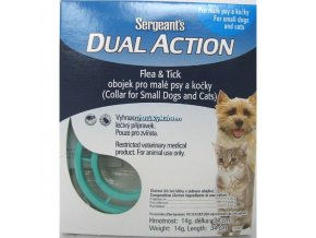 Sergeant's Dual antiparazitní objek pro malé psy a kočky 34cm