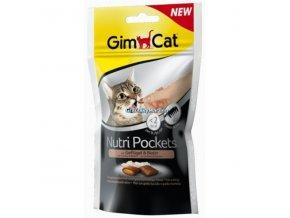 Pamlsky GimCat Nutri Pockets Drůbež a biotin 60g