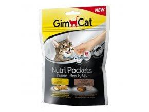 Pamlsky GimCat Nutri Pockets Taurin a Beauty Mix 150g