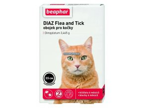 Antiparazitní obojek Beaphar Cat DIAZ Flea and Tick 35cm