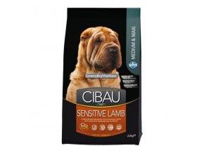 Cibau Adult Medium and Maxi Sensitive Lamb and Rice Hmotnost  12kg