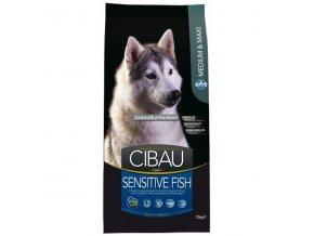 Cibau Adult Medium and Maxi Sensitive Fish and Rice Hmotnost  12kg