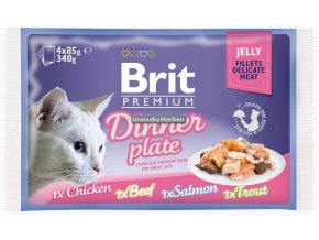 Brit Premium Cat Pouch Dinner Plate Jelly
