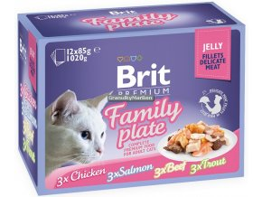 Brit Premium Cat Pouch Family Plate Jelly
